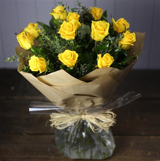 The Rose Bouquet in Yellow