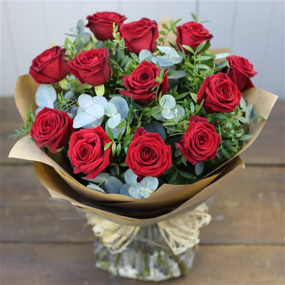 Rose Bouquet In Red Kays Florist Rialto Dublin 8