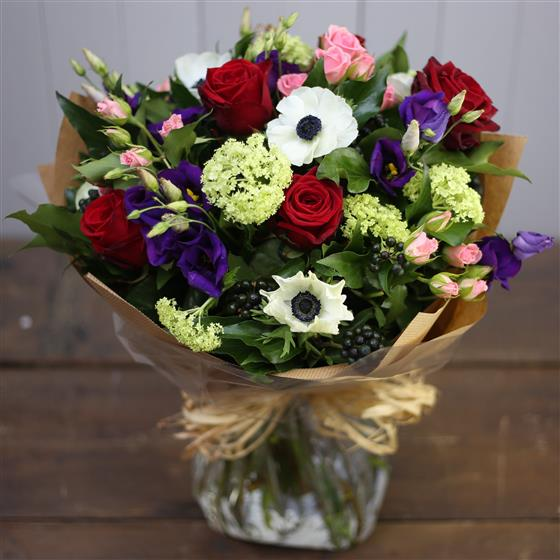 The Red White and Blue Bouquet Kay\'s Florist Rialto Dublin 8